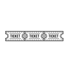 black thin line tickets strip with star vector image