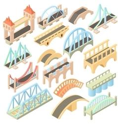 Bridges set isometric 3d style vector