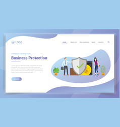 Business data protection services for website vector
