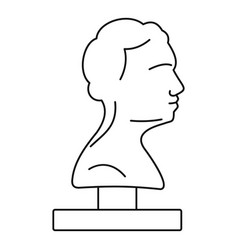Bust ancient writer icon outline style vector