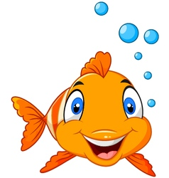 Clown fish isolated on white background vector