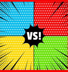 Comic rivalry concept vector