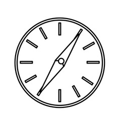 Compass guide application icon vector