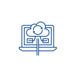 content synchronization line icon concept content vector image