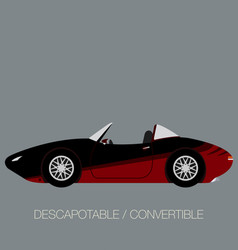 convertible sport car side view vector image