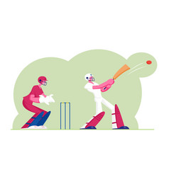 Cricket tournament concept batsman in vector