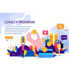 Customer loyalty marketing program returning vector