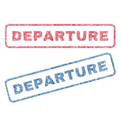 Departure textile stamps vector