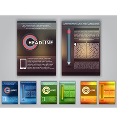 Design business flyer vector image