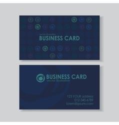 Dot business card vector