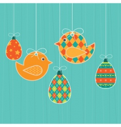 Easter decorations vector image
