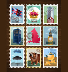 england posters set vector image