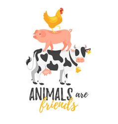 farm slogan for apparel design vector image