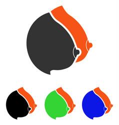 Female tits flat icon vector