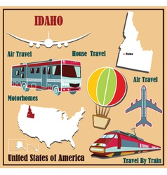 Flat map of Idaho vector image