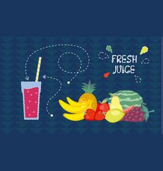 fresh juice from fresh fruit vector image