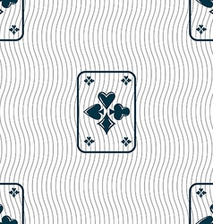 game cards icon sign Seamless pattern with vector image vector image