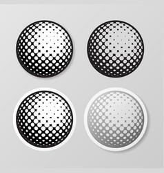 Golf symbol stickers set vector