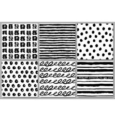 Grunge seamless pattern texture set vector image