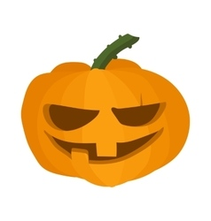 Halloween pumpkin icon cartoon style vector image