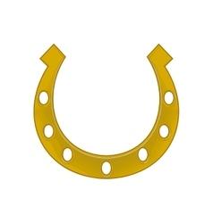 Horseshoe isolated on white background vector image