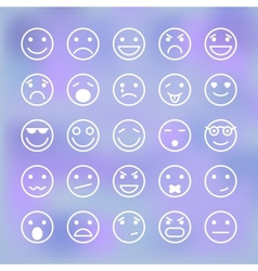 Icons set of smiley faces for mobile application vector image