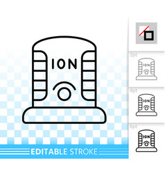 Ionizer simple black line icon vector