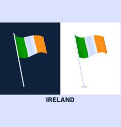 ireland flag waving national flag italy vector image