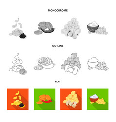 isolated object of taste and seasonin logo set of vector image