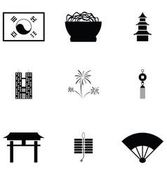 Korea icon set vector