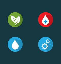 logo set icon vector image
