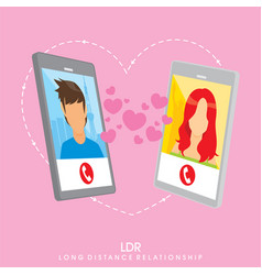 long distance relationship - background design vector image