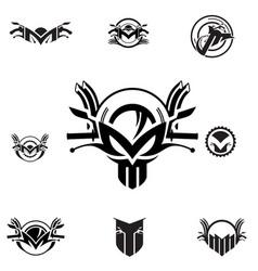 m letter based motorcycle symbol vector image