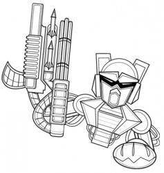 mechbot vector image