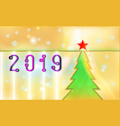 merry christmas gold color vintage background vector image