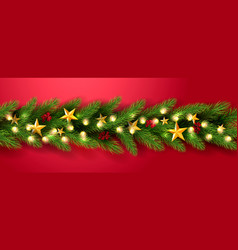 merry christmas universal red background vector image