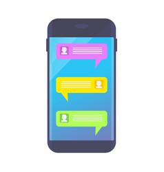 message on dark smartphone vector image