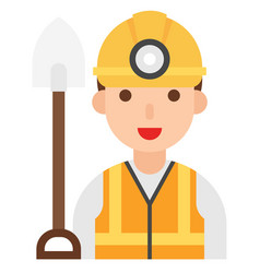miner icon profession and job vector image
