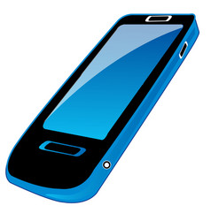 Mobile telephone on white vector