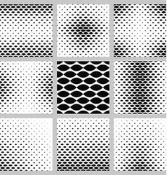 Monochrome curved shape pattern background set vector image
