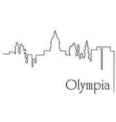 olympia city one line drawing vector image