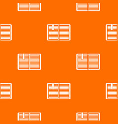open book with a bookmark pattern seamless vector image