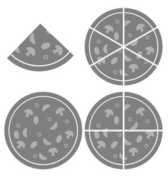 Pizza Icon Isolated vector image