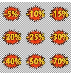 Pop art discount labels vector image