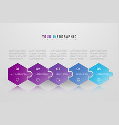 Puzzle infographic concept design with 5 options vector