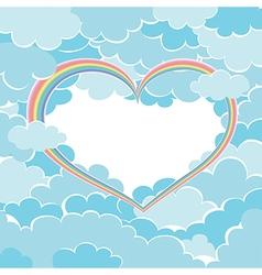 rainbow heart in the sky vector image