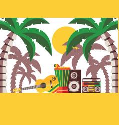 reggae music beach party vector image