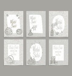 Set creative journaling cards template vector