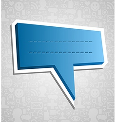 Social media speech bubble over texture vector image