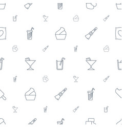 Soft icons pattern seamless white background vector